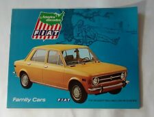 Fiat 124 Special Sedan Station Wagon Sales Brochure Advertising c. 1969 Car Auto