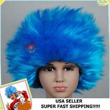 CHILDREN'S STRAIGHT THING 1 THING 2 WIG, kids aqua boys girls wig CHILD hair