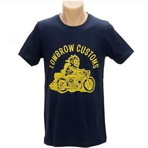Lowbrow Customs Happy Devil T-Shirt Triumph bobber chopper cafe racer