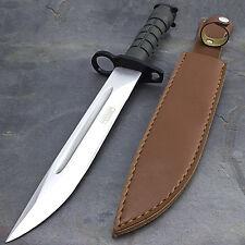 "13.5"" BAYONET US MILITARY COMBAT KNIFE w/ SHEATH Survival Hunting Rambo Army"