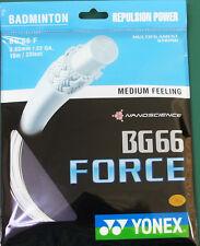 2 pkts  YONEX Badminton String BG66 Force BG 66 F White Maximum Power/Control