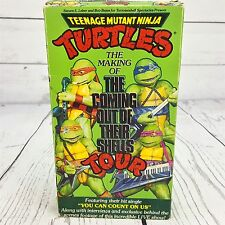 TMNT Teenage Mutant Ninja Turtles Coming Out of Their Shells Tour VHS 1990
