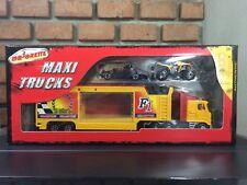 Majorette F1 Trucks Maxi Formula 1 Racing Model Yellow Red 1:60 Diecast