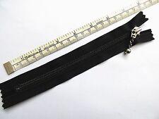 "Zip, Zipper 7""/18cm, Ball & Chain Puller,Closed End, Nylon. YKK, Black"