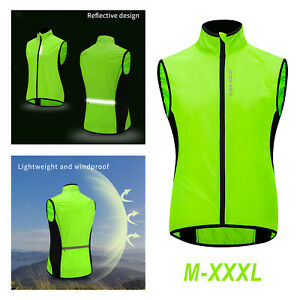 Waterproof Reflective Safety Mesh Vest with Pocket Night Motorcycle Sports