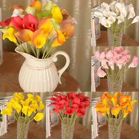 Artificial Calla Lily Fake Silk Flowers Bouquet head Wedding Party Home Decor JP