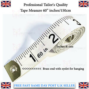 Tailor Seamstress Sewing Diet Cloth Ruler Tape Measure Brass Eyelet Ends