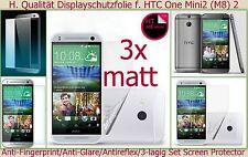3 x Antireflex matt Display Schutz Folie HTC ONE Mini 2 (M8) Kratzfest Protector