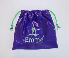 Monogram GRIP BAG w/ GYMNAST FIGURE- match to ur team gymnastics leotard present