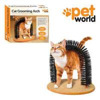 CAT KITTEN PET ARCH BRISTLES SELF-GROOMER MASSAGING MASSAGER SCRATCHER PLAY NIP