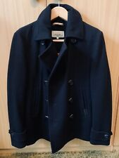 Superdry Men's Commodity Slim Pea Coat Medium Dark Navy Excellent Condition