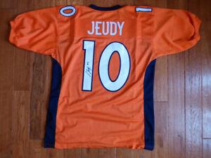 Jerry Jeudy Signed Broncos Custom Orange Jersey Size XL JSA