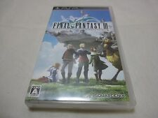 W/Tracking Number. Japanese English Subtitles Version PSP Final Fantasy III FF3
