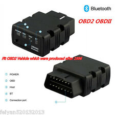 KW902 Black OBDll OBD2 ELM327 Bluetooth Car Fault Code Scanner Diagnostic Tool