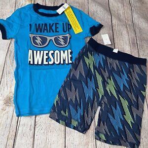 Gap Kids Size 10 Pajamas Wake Up Awesome Glow Logo NEW Summer Shorts