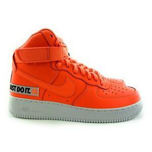 Nike Men's Air Force 1 HI '07 LV8 JDI LTR Total Orange Shoes BQ6474-800 Sz 8.5-9