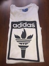 Adidas White Originals T-Shirt Olympic Torch Size Large $30 Value ++