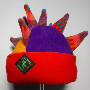 Multicoloured Spike Fleece Ski & Outdoor Hat Unisex by Original Lizard
