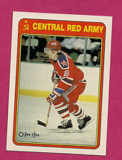 1990-91 OPC # 19R CENTRAL RED ARMY SERGEI FEDOROV ROOKIE CARD