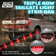 "60"" Triple Row 197 LED Strip Tailgate Bar Reverse Brake Turn Signal Light Truck"