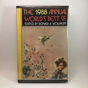 The 1988 Annual Worlds Best SF Edited Donald Wollheim BCE Hardback Book Rare Vtg