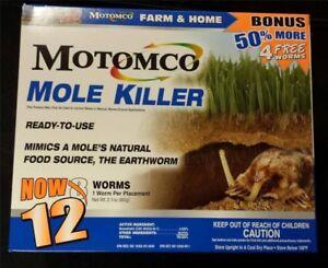 Motomco Mole Killer Farm and Home 12 Pack