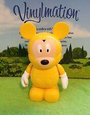 "DISNEY Vinylmation 3"" Park Set 2 Poncho Yellow Mickey Mouse"