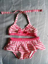 619fa34144 Janie and Jack 2 Piece Ruffled Bikini Swimsuit Pink White Stripes Size 2T
