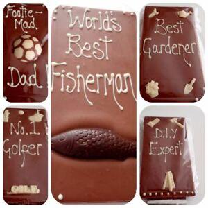 Large Milk Chocolate Hobby Slabs, Football / Golf / DIY / Gardening / Fishing