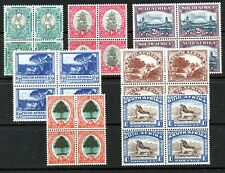 SOUTH AFRICA 1947 DEFINITIVES SG114/120 BLOCKS 4 UNMOUNTED
