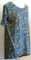 LuLaRoe Women's XXS Simply Comfortable tunic short sleeve t shirt Floral Stitch