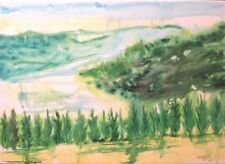 Medium (up to 36in.) Green Art Landscape Paintings