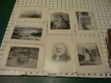 1899 -- Perry Pictures, etc, LONGFELLOW; EVANGELINE; PLYMOUTH ROCK etc 7 in all