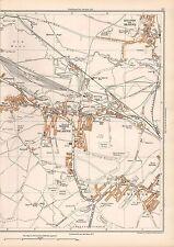 Mapa Vintage 1938 Original Yorkshire WATH en Barcelona Bolton Swinton West Melton