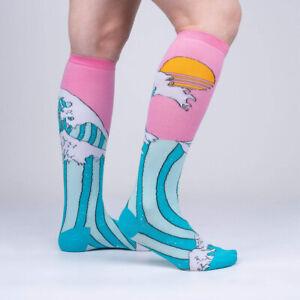 Sock It To Me Women's Knee High Socks - The Wave (UK 3-8)