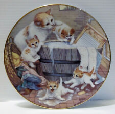 "Hamilton Collection Kittens/Cats Country Kitties ""All Washed Up"" 1988 #01152B"