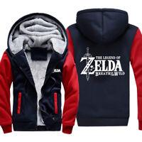 NEW Winter Hoodie The Legend of Zelda Breath of Wild Men's Sweater Jacket Coat