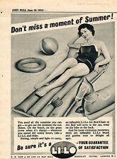 Authentic 1955 Li-Lo Air Beds Quarter Page Vintage / Retro Magazine Ad