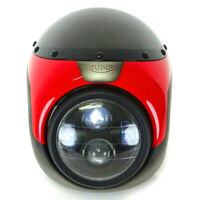 Rumpf Windschutzscheibe mit Scheinwerfer LED Vorne Café Racer Universal Airbrush