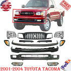 Front Bumper Primed Kit Grille Head Lights For 2001-2004 Toyota Tacoma 2wd