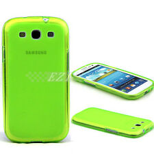 Galaxy S3 III i9300 Green Matte Ultra Slim Thin TPU Case For Samsung
