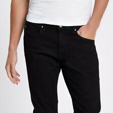 LEE LUKE BLACK CORDS 31 waist 34 leg ZIP FLY SLIM TAPERED FIT NEW 80s