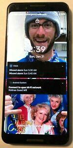 [BROKEN] Google Pixel 3 64GB Black Unknown PARTS REPAIR Cracked Bad Digitizer