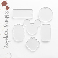 """Acrylic Keychain Blanks 3"""" SAMPLES 1/8"""" Thick (Clear&Colors)24 Units Pack"""