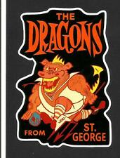 ''THE DRAGONS FROM ST GEORGE'' VINYL STICKER / DECAL RUGBY LEAGUE NRL Illawarra