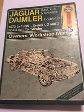 JAGUAR XJ12 XJS XJSC & SOVEREIGN + DAIMLER V12 HAYNES MANUAL 5343cc 1972-1985
