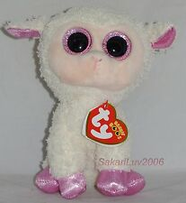 """New! 2017 Ty Beanie Boos Easter Twinkle the Lamb 6"""" size nwt's In Hand"""