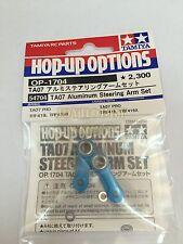 Tamiya 54704 1/10 RC TA07 Aluminum Steering Arm Set Blue TA07PRO TRF419 TRF419X