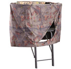 Universal Hunting Tree Stand Blind Dense Camo Pattern Scent Containing Fabric