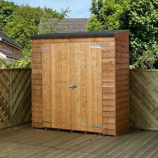 garden wood shed tool storage bike outdoor patio wooden cabinet store unit 6x3